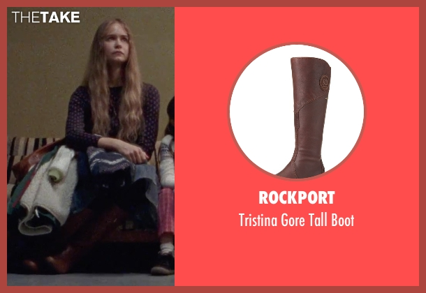 Rockport brown boot from Steve Jobs seen with Katherine Waterston (Chrisann Brennan)