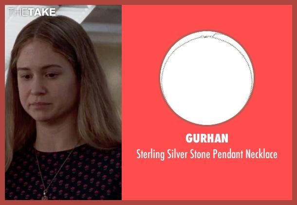 Gurhan silver necklace from Steve Jobs seen with Katherine Waterston (Chrisann Brennan)