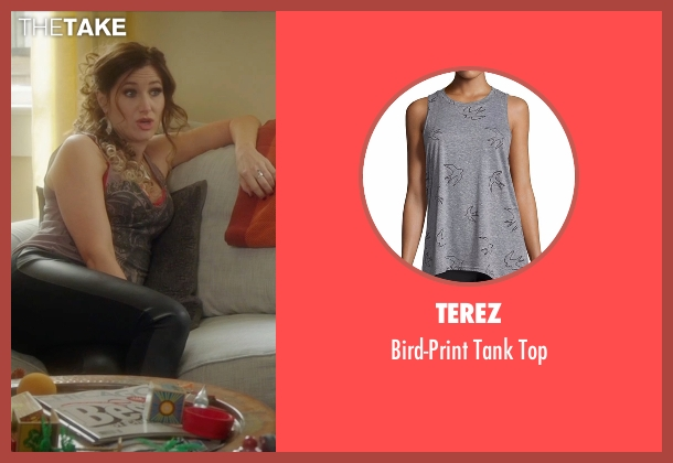 Terez gray top from Bad Moms seen with Kathryn Hahn (Carla)