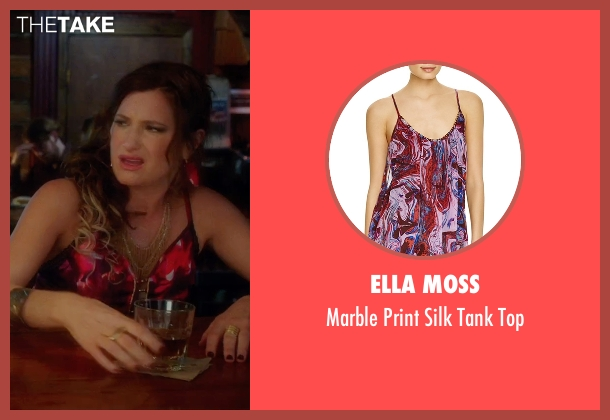 Ella Moss red top from Bad Moms seen with Kathryn Hahn (Carla)