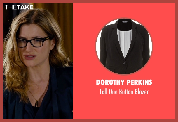 Dorothy Perkins black blazer from She's Funny That Way seen with Kathryn Hahn (Delta Simmons)