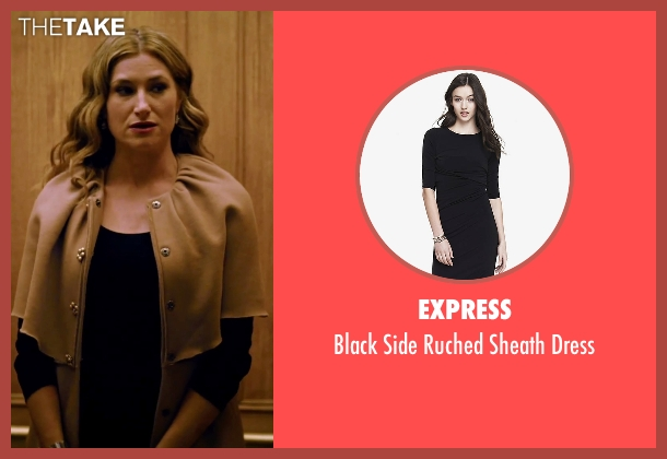 Express black dress from She's Funny That Way seen with Kathryn Hahn (Delta Simmons)