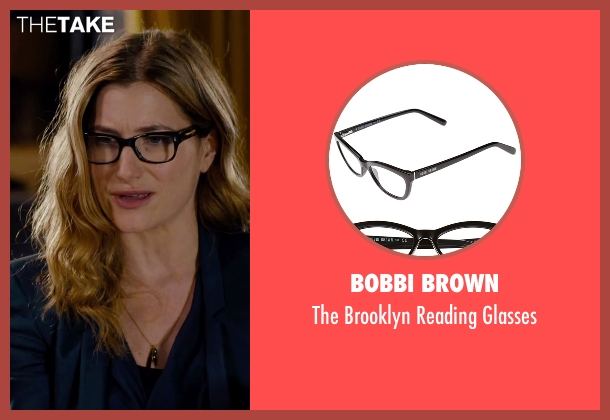 Bobbi Brown black glasses from She's Funny That Way seen with Kathryn Hahn (Delta Simmons)