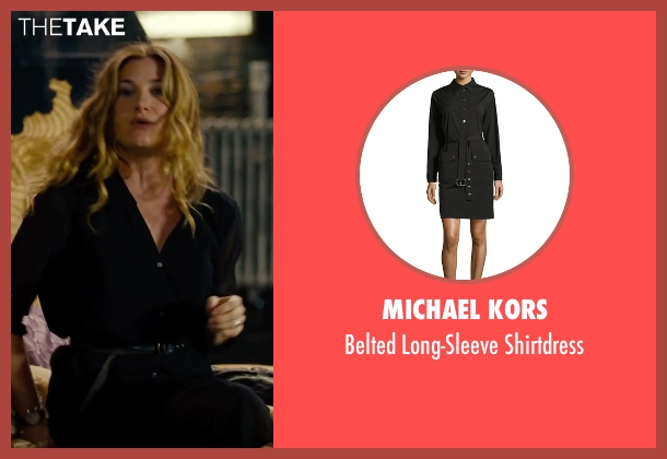 Michael Kors black shirtdress from She's Funny That Way seen with Kathryn Hahn (Delta Simmons)