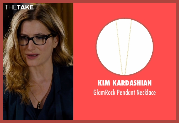 Kim Kardashian gold necklace from She's Funny That Way seen with Kathryn Hahn (Delta Simmons)