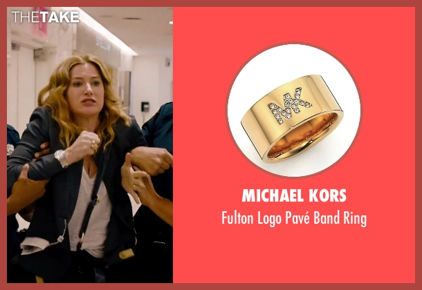 Michael Kors gold ring from She's Funny That Way seen with Kathryn Hahn (Delta Simmons)