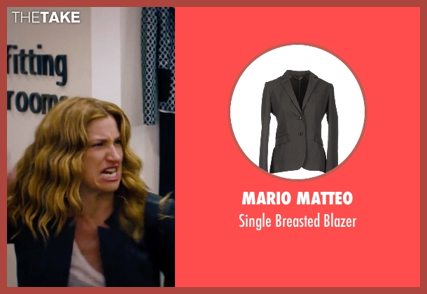 Mario Matteo gray blazer from She's Funny That Way seen with Kathryn Hahn (Delta Simmons)