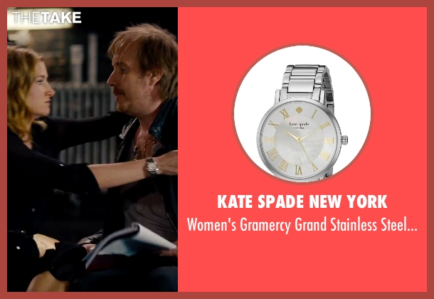 Kate Spade New York silver watch from She's Funny That Way seen with Kathryn Hahn (Delta Simmons)