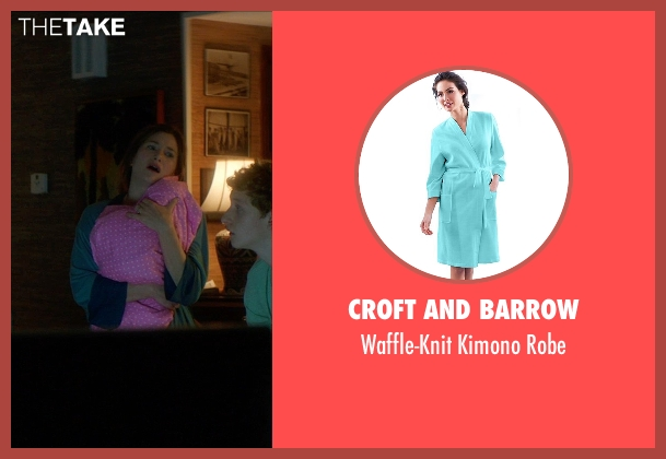 Croft and Barrow green robe from The D Train seen with Kathryn Hahn (Stacey)