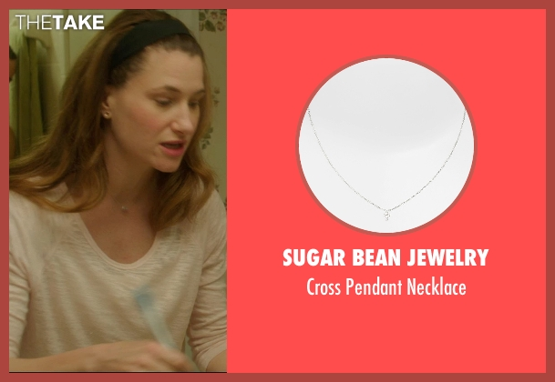 Sugar Bean Jewelry silver necklace from The D Train seen with Kathryn Hahn (Stacey)