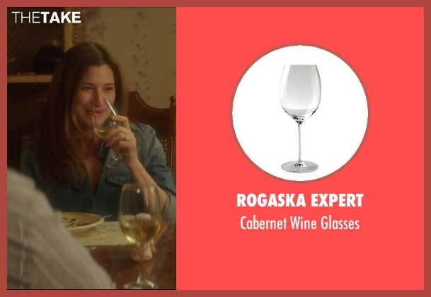 Rogaska Expert white glasses from The D Train seen with Kathryn Hahn (Stacey)