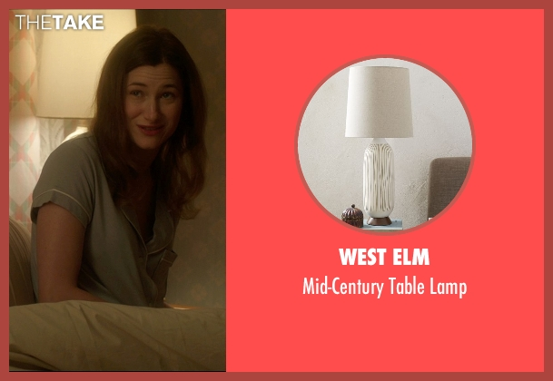 West Elm white lamp from The D Train seen with Kathryn Hahn (Stacey)