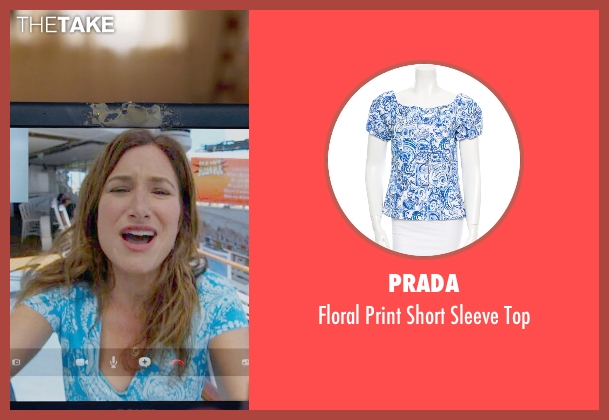 Prada blue top from The Visit seen with Kathryn Hahn (Unknown Character)