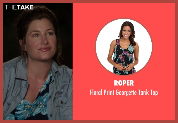 Roper black top from We're the Millers seen with Kathryn Hahn (Edie Fitzgerald)