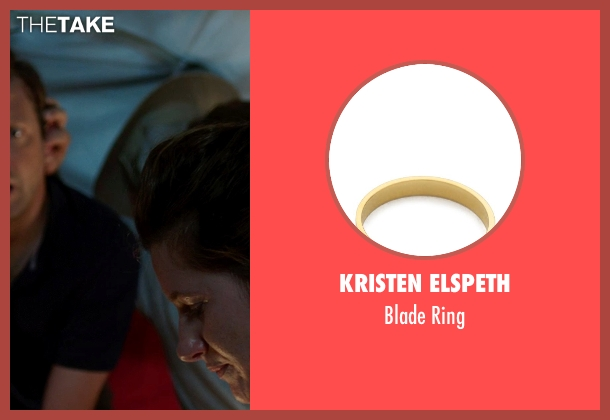 Kristen Elspeth gold ring from We're the Millers seen with Kathryn Hahn (Edie Fitzgerald)
