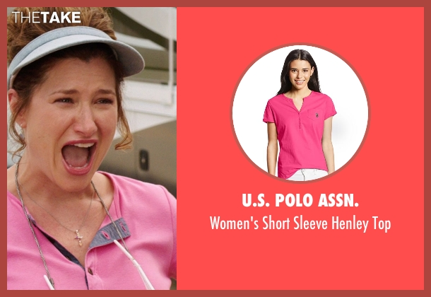 U.S. Polo Assn. pink top from We're the Millers seen with Kathryn Hahn (Edie Fitzgerald)