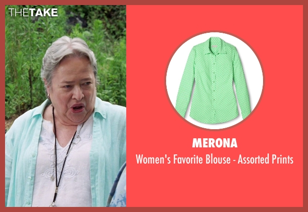 Merona green prints from Tammy seen with Kathy Bates (Leanor)
