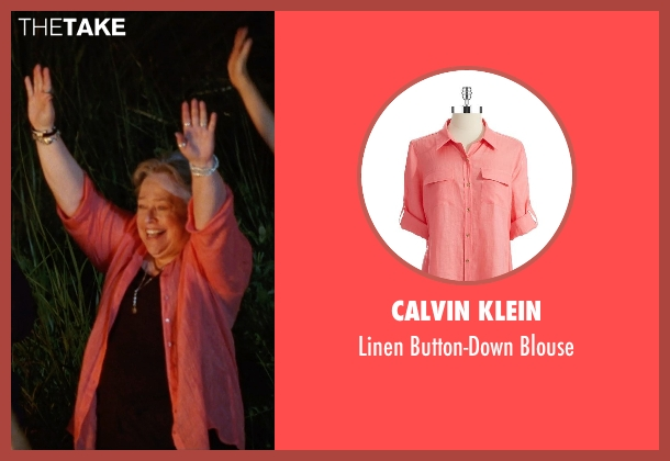 Calvin Klein pink blouse from Tammy seen with Kathy Bates (Leanor)
