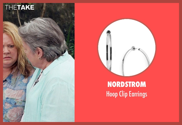 Nordstrom silver earrings from Tammy seen with Kathy Bates (Leanor)