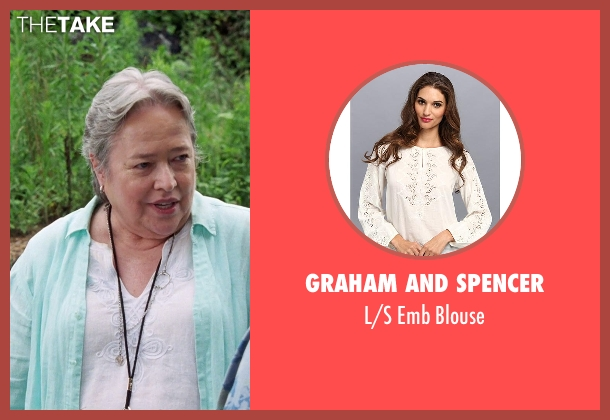 Graham and Spencer white blouse from Tammy seen with Kathy Bates (Leanor)