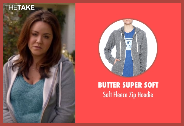 Butter Super Soft gray hoodie from American Housewife seen with Katie (Katy Mixon)
