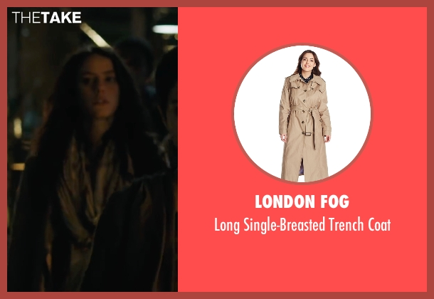 London Fog beige coat from Maze Runner: The Scorch Trials seen with Kaya Scodelario (Teresa)