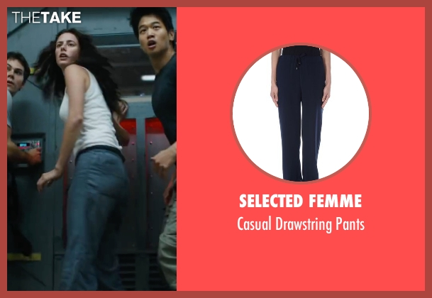 Selected Femme blue pants from Maze Runner: The Scorch Trials seen with Kaya Scodelario (Teresa)