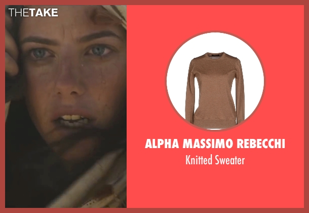 Alpha Massimo Rebecchi brown sweater from Maze Runner: The Scorch Trials seen with Kaya Scodelario (Teresa)