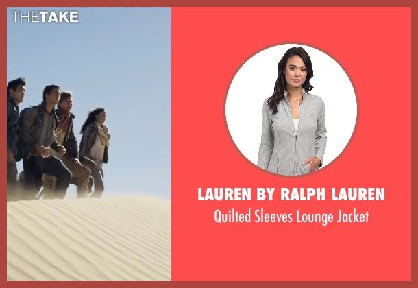 Lauren by Ralph Lauren gray jacket from Maze Runner: The Scorch Trials seen with Kaya Scodelario (Teresa)