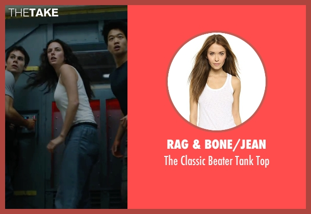 Rag & Bone/JEAN white top from Maze Runner: The Scorch Trials seen with Kaya Scodelario (Teresa)