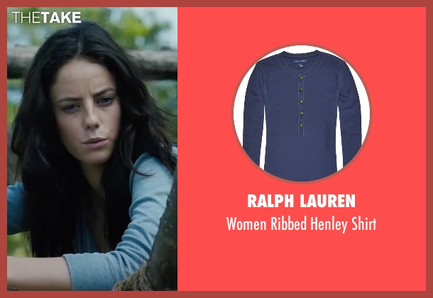 Ralph Lauren blue shirt from The Maze Runner seen with Kaya Scodelario (Teresa)