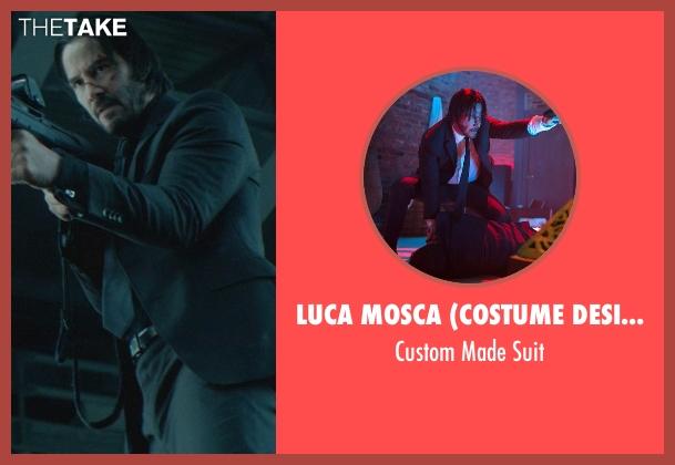 Luca Mosca (Costume Designer) black suit from John Wick seen with No Actor (John Wick)