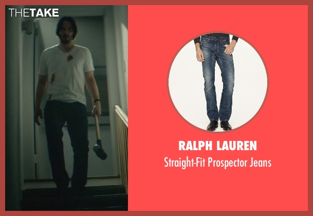 Ralph Lauren blue jeans from John Wick seen with Keanu Reeves (John Wick)