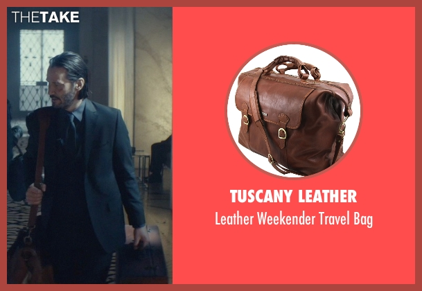 Tuscany Leather brown bag from John Wick seen with Keanu Reeves (John Wick)
