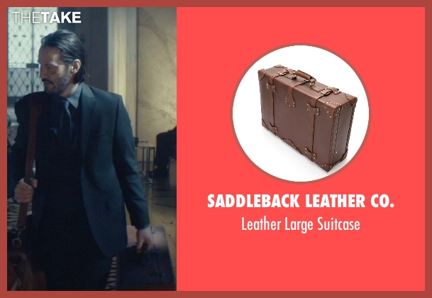 Saddleback Leather Co. brown suitcase from John Wick seen with Keanu Reeves (John Wick)