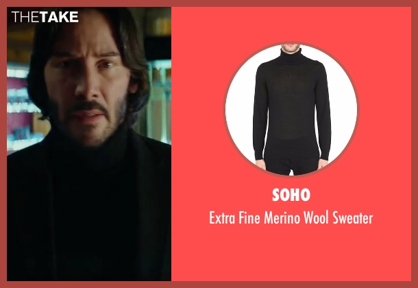Neiman Marcus black sweater from John Wick: Chapter 2 seen with Keanu Reeves (John Wick)