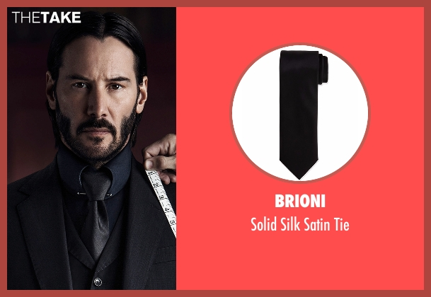 Brioni black tie from John Wick: Chapter 2 seen with Keanu Reeves (John Wick)