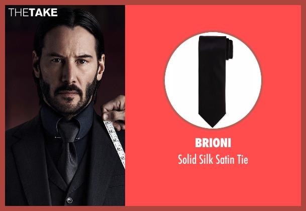 Brioni  black tie from John Wick: Chapter 2 seen with Keanu Reeves (John Wick)