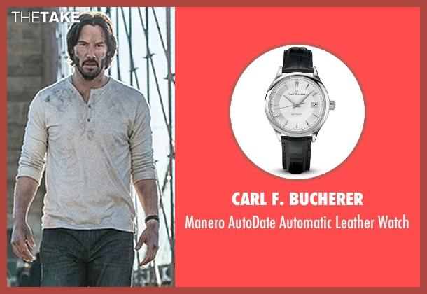 Carl F. Bucherer black watch from John Wick: Chapter 2 seen with Keanu Reeves (John Wick)