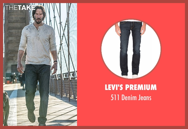Levi's Premium blue jeans from John Wick: Chapter 2 seen with Keanu Reeves (John Wick)