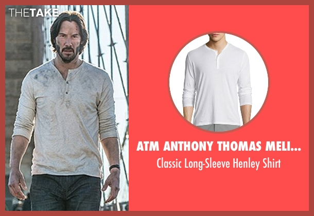 ATM Anthony Thomas Melillo white shirt from John Wick: Chapter 2 seen with Keanu Reeves (John Wick)