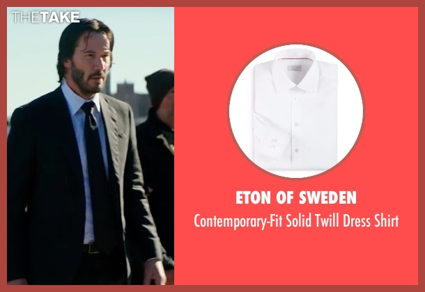 Eton of Sweden white shirt from John Wick: Chapter 2 seen with Keanu Reeves (John Wick)