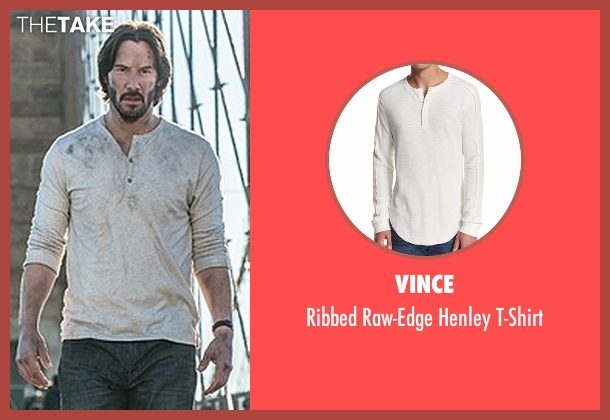 Vince white t-shirt from John Wick: Chapter 2 seen with Keanu Reeves (John Wick)