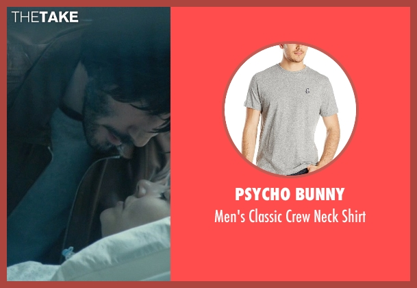 Psycho Bunny gray shirt from John Wick seen with Keanu Reeves (John Wick)