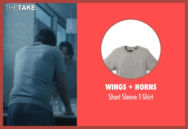Wings + Horns gray t-shirt from John Wick seen with No Actor (John Wick)