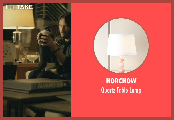 Horchow lamp from John Wick seen with Keanu Reeves (John Wick)
