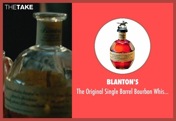 Blanton's whiskey from John Wick seen with Keanu Reeves (John Wick)