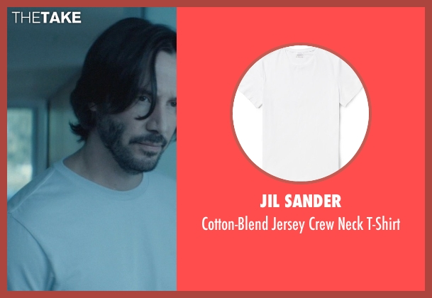 Jil Sander white t-shirt from John Wick seen with Keanu Reeves (John Wick)