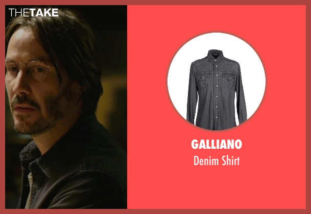 Galliano black shirt from Knock Knock seen with Keanu Reeves (Evan Webber)