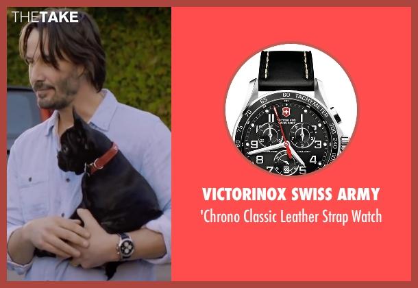 Victorinox Swiss Army black watch from Knock Knock seen with Keanu Reeves (Evan Webber)